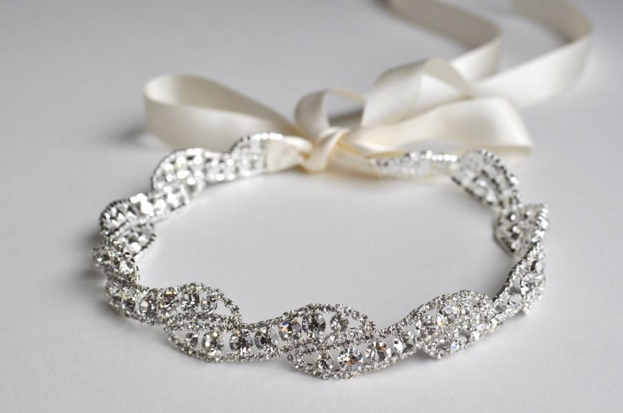 Свадьба - Rhinestone Headband  - T42