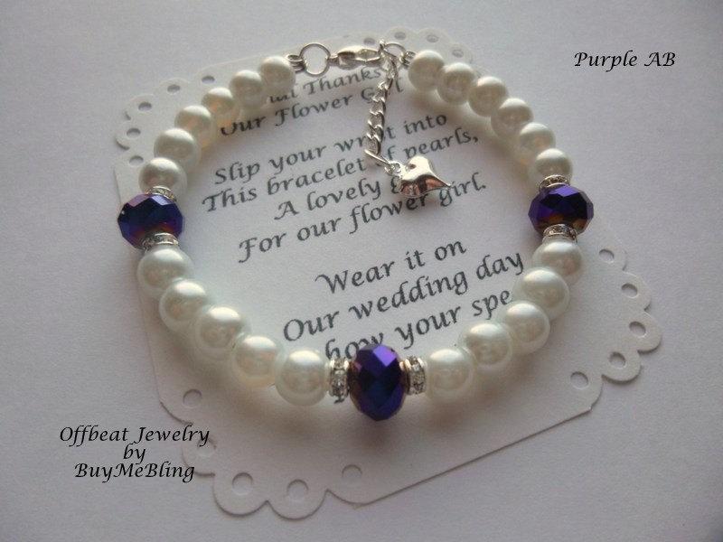 Свадьба - Children's Bracelet, Flower Girl Gift, Flower Girl Jewelry, Pearl Flower Girl Bracelet, Kids Bracelet, Childrens Bracelet, Girl's Jewelry