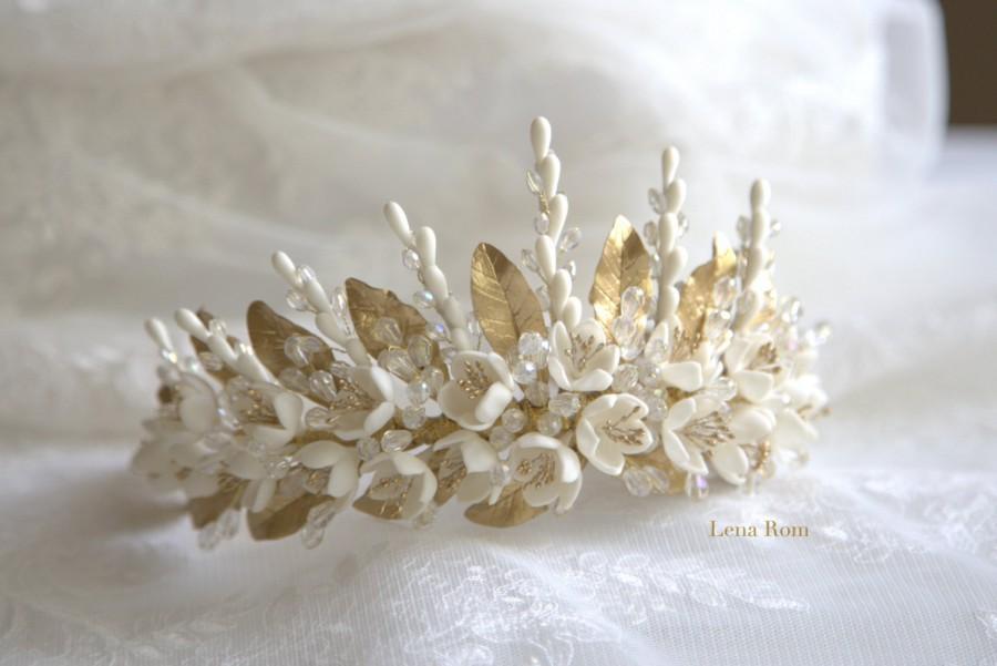 Mariage - Jasmine blossoms headpiece. Bridal headpiece. Bridal crown. Floral crown. Blossoms headpiece. Wedding headpiece. MOD614 bridal headpiece