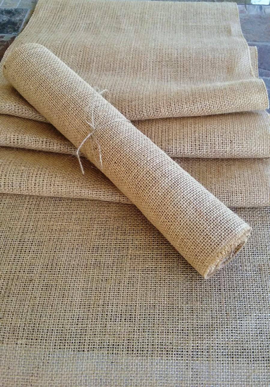 """Hochzeit - 12"""" Wide Burlap Table Runner, Rustic Wedding Table Runner, Holiday Table Runner, Rustic Home Decor, Party Table Runner"""