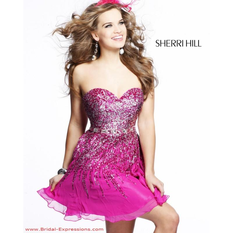 Sherri Hill 8413 Short Sequin Prom Dress - Crazy Sale Bridal Dresses ...