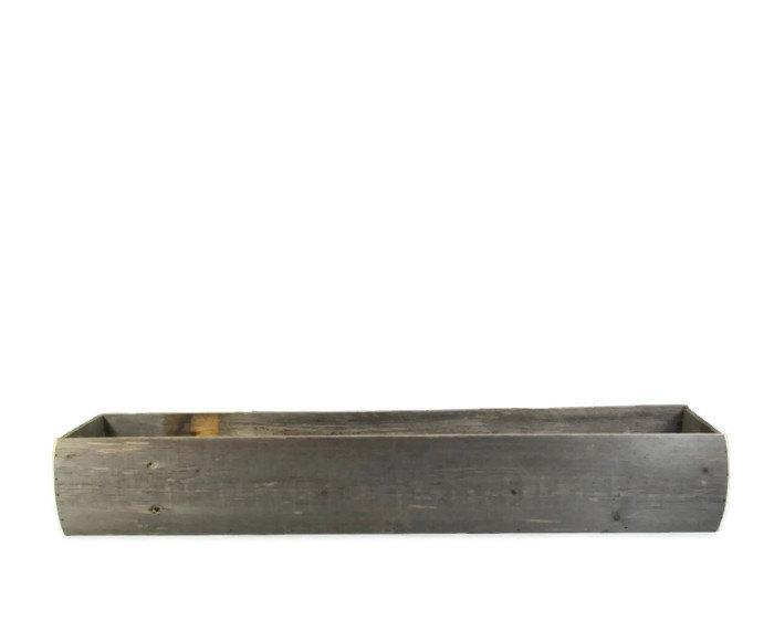 Свадьба - 36 Inch Long Centerpiece Box Made from Reclaimed Wood - Event Decor