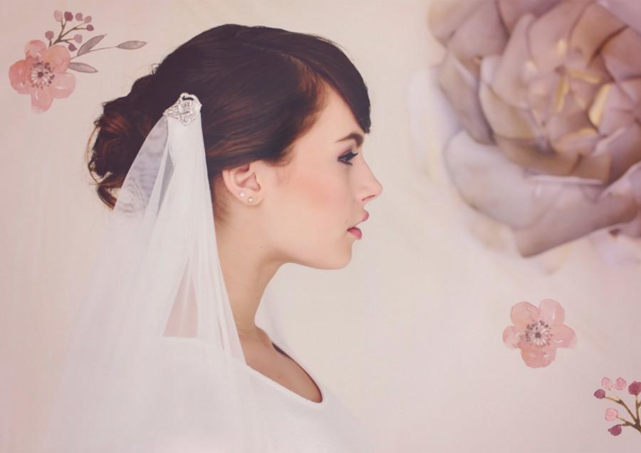 Свадьба - Wedding Veil, Bridal Veil, Veil, Soft Tulle Veil, Art Deco Veil, The Cora Draped Wedding Veil #155