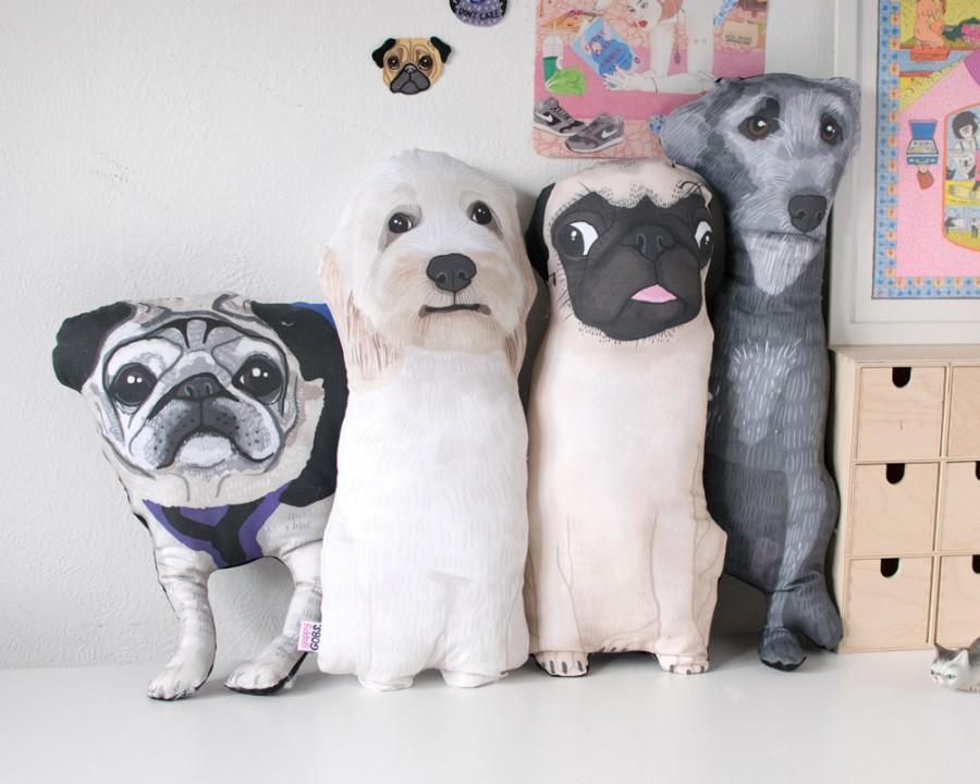 1583fc046a87 Custom Pet Pillow Portrait Cushion - Fun Gift for a dog - cat - rabbit owner