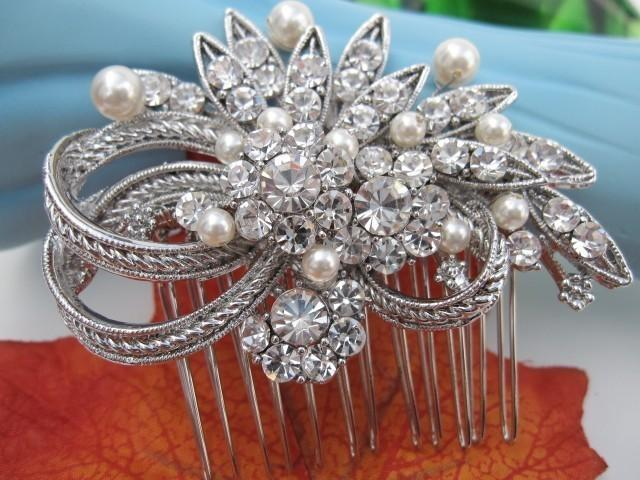 Свадьба - Wedding hair comb pearl bridal hair accessories wedding hair jewelry decorative combs bridal hair comb wedding headpiece bridal comb pearl