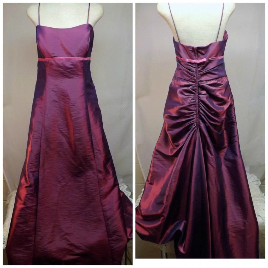 Jordan Fashions Evening Gown Bridesmaid Gown Party Dress Size 12 in Plum  with Cape 70798d669a68