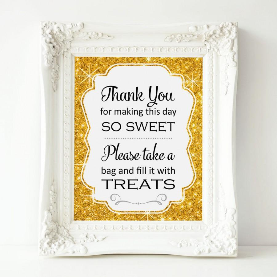 Mariage - Gold Sparkle Candy Bar Sign, PRINTABLE Candy Buffet Sign, Sweets Table, Candy Bar, Bridal Shower, Baby Shower, Wedding Sign, Top Seller