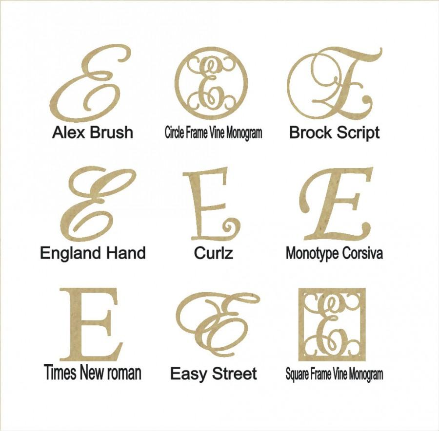 """Mariage - Wooden Letter """"E"""" Large or Small, Unfinished, Unpainted -- Perfect for Crafts, DIY, Nursery, Kids Rooms, Weddings"""