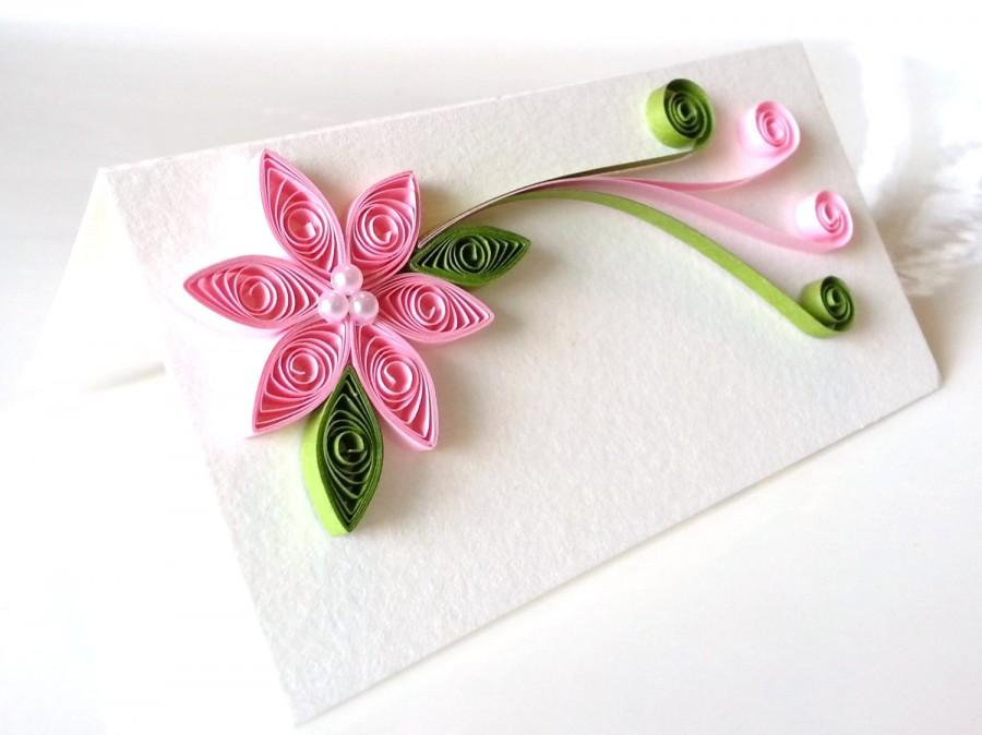 Hochzeit - Wedding Place Card, Wedding Seating Card, Escort Card, Pink Wedding Table Decor