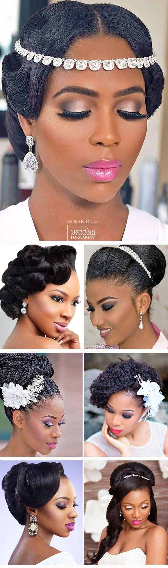 Wedding - 24 Black Women Wedding Hairstyles