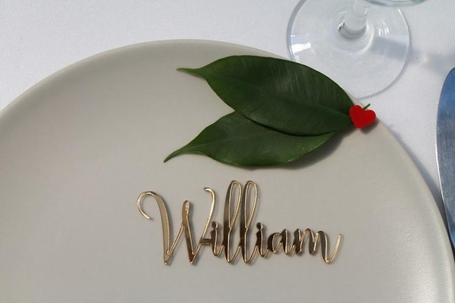 Mariage - Laser cut names, Custom wedding signs, Guest names, Acrylic place cards, Personalised wedding place cards, Laser cut acrylic name place, 09