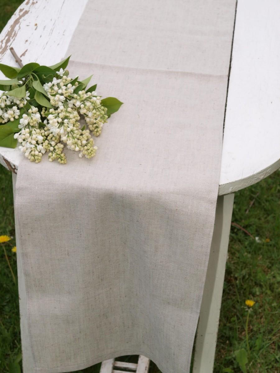 "Свадьба - Table runner Rustic Weddings Table Runner Linen Table Runner Rustic Table Runner  - 12 1/2"" x 56 1/2"""