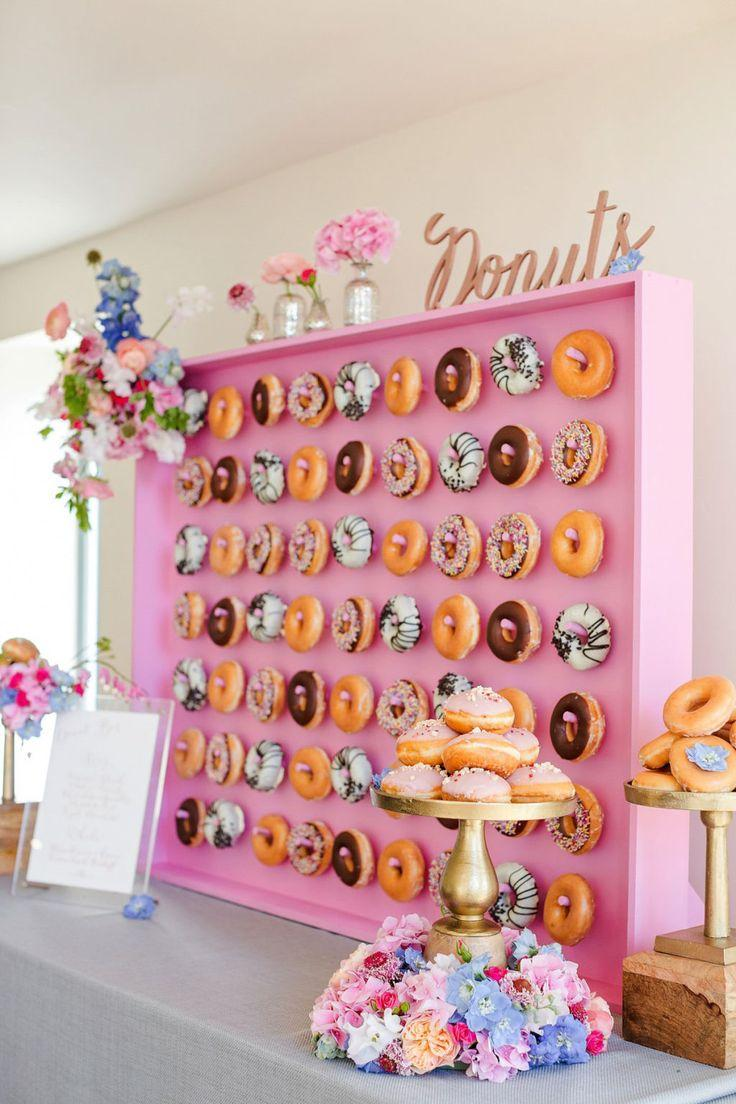 Hochzeit - Brides All Over The Internet Are Obsessed With This Doughnut Wall Trend