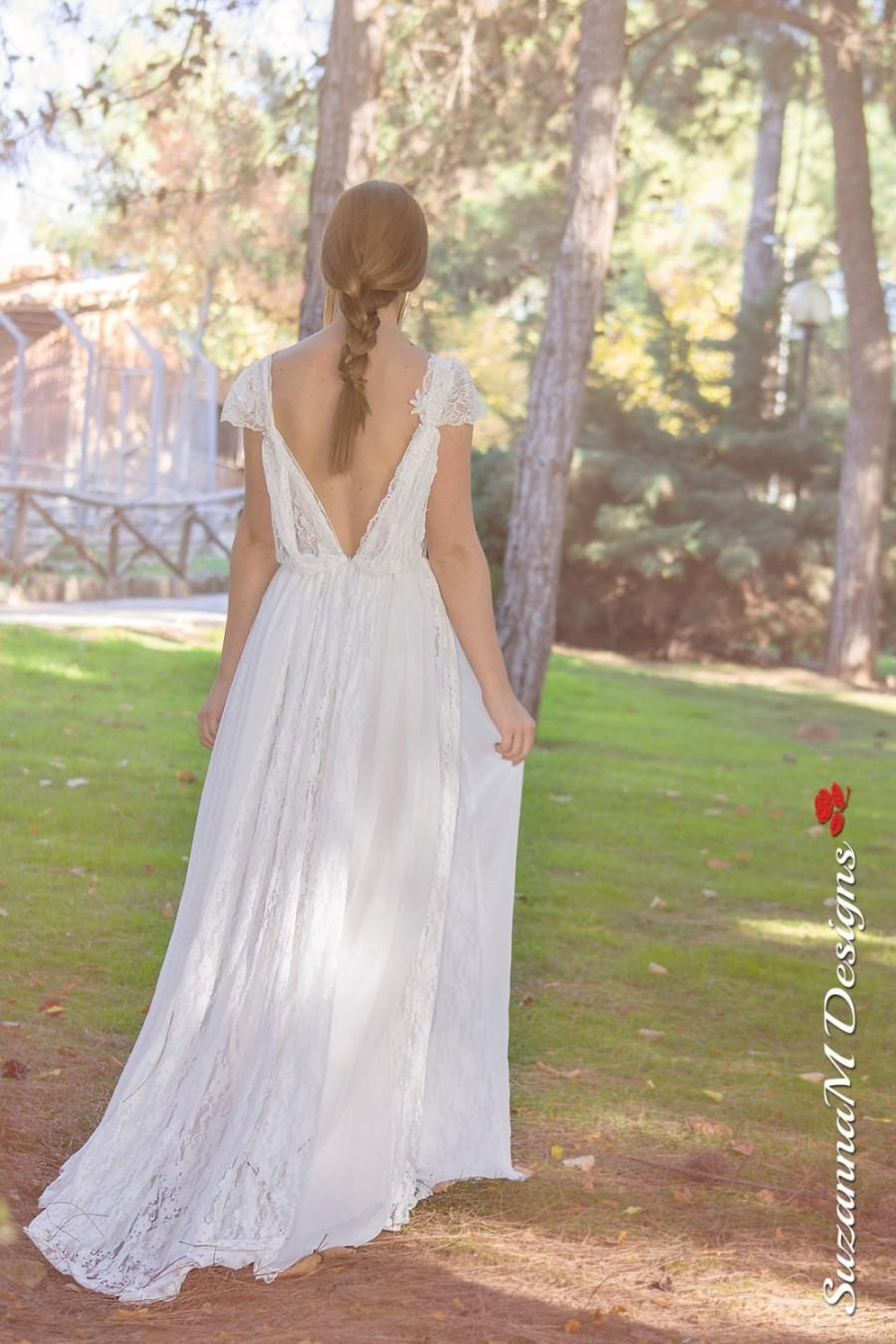 Long Wedding Dress, SuzannaM Designs, Bohemian Wedding Gown, Boho ...