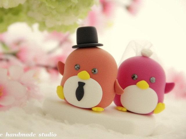Свадьба - Penguins with sweet heart (K420)