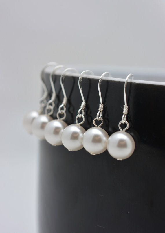 Mariage - Sterling Silver Pearl Earrings