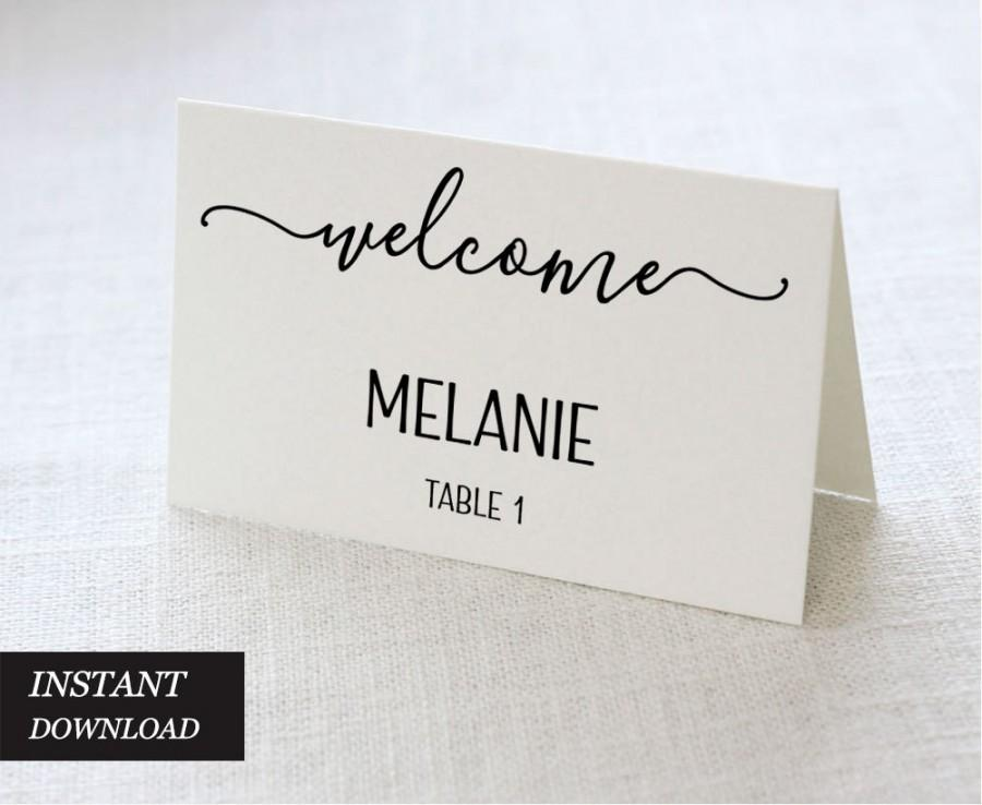 Wedding Place Cards Wedding Place Card Printable Place Card - Place card printing template