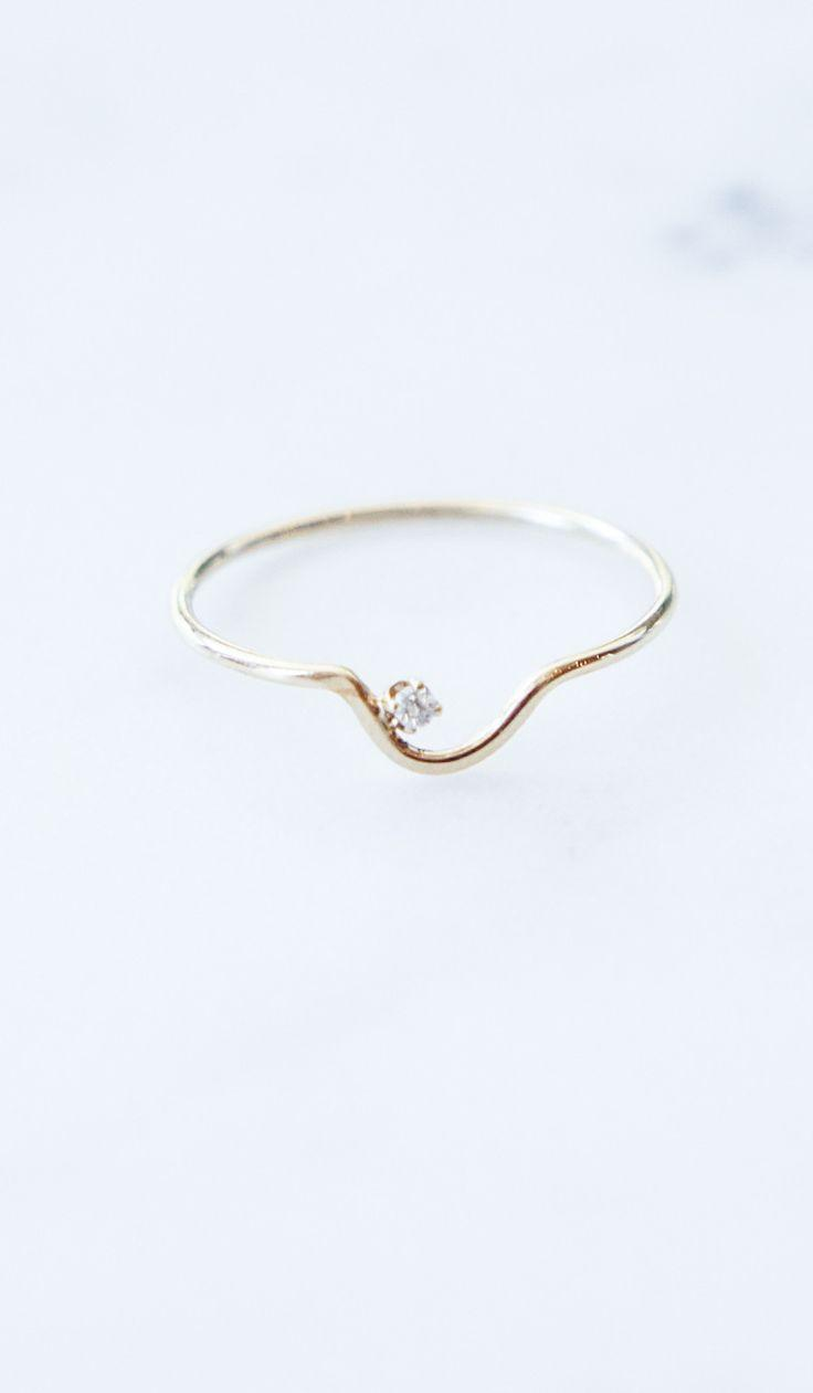 Mariage - Wwake Arc Kammie Ring With White Diamond