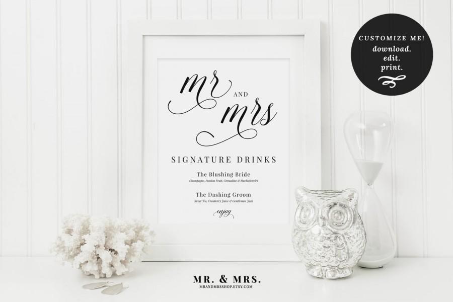 Mariage - Signature Drinks Wedding Sign
