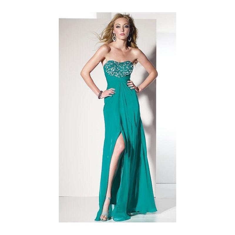 Wedding - BDazzle Silky Chiffon Flowing Prom Dress 35455 by Alyce Designs - Brand Prom Dresses