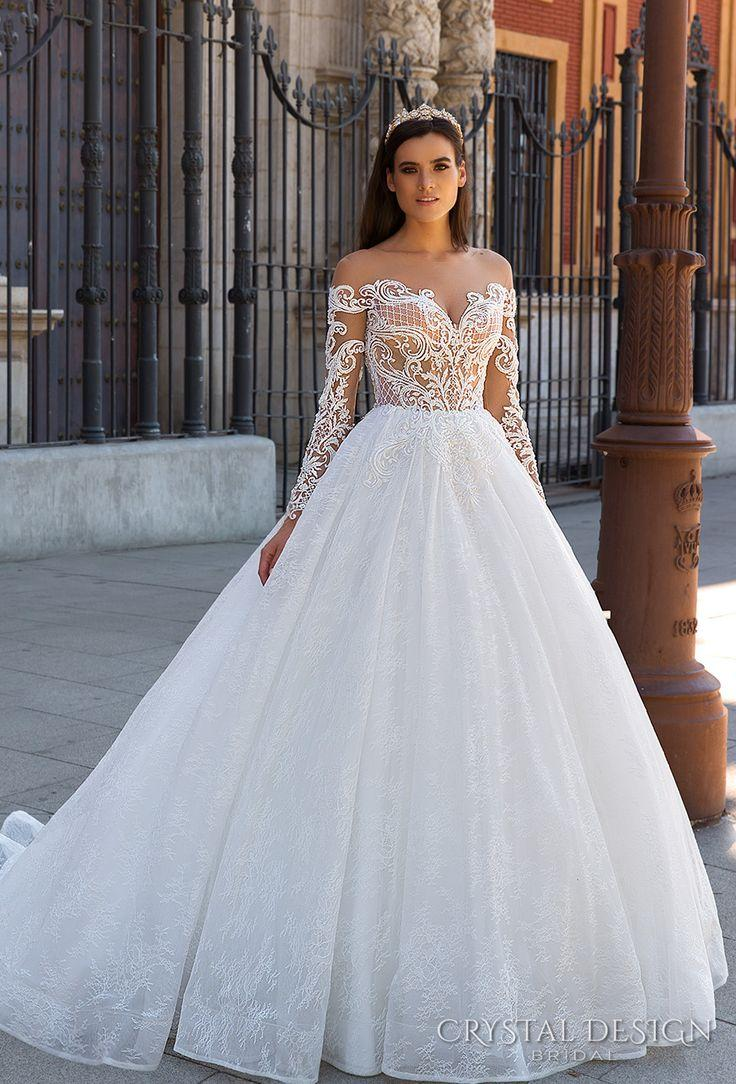 "Beautiful Wedding Dresses From The 2017 Crystal Design Collection €�sevilla"" Bridal Caign: Beautiful Wedding Dresses With Diamonds At Websimilar.org"