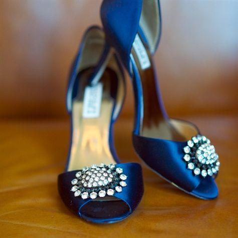 Mariage - Navy Badgley Mischka Wedding Shoes