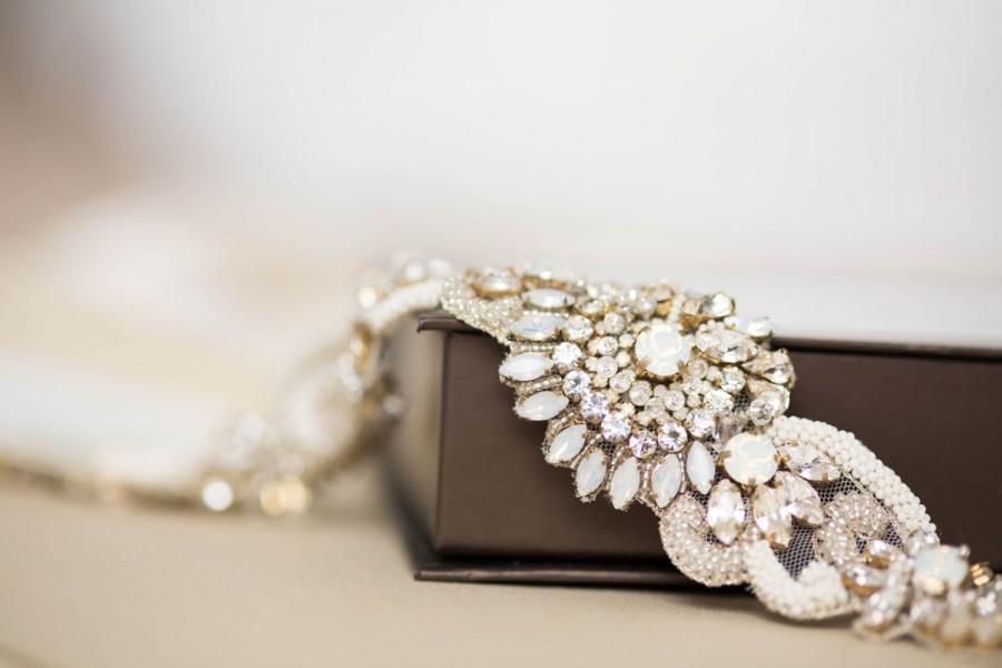 زفاف - Wedding belts and sashes, Bridal belts, Bridal sash in light gold and silver - Style R53