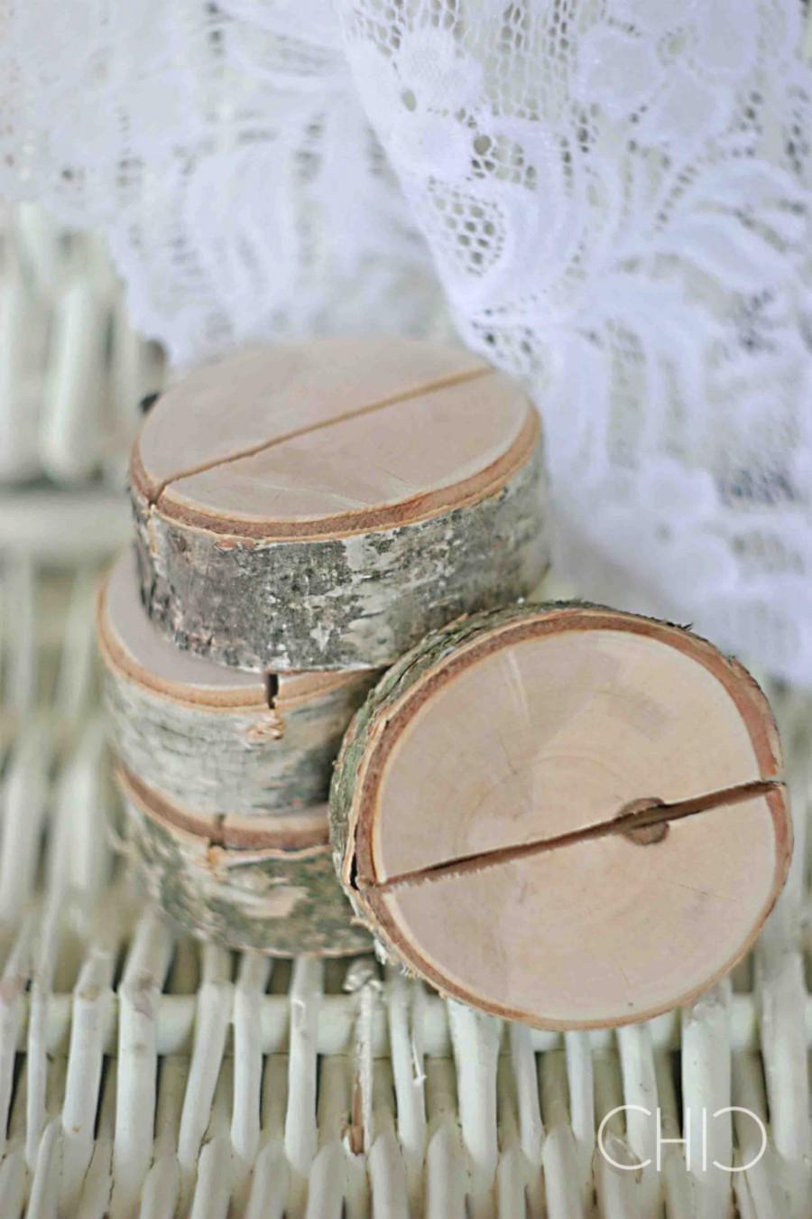 rustic wedding table card holders wooden place card holders set of 10 natural birch name card holders shabby chic decor