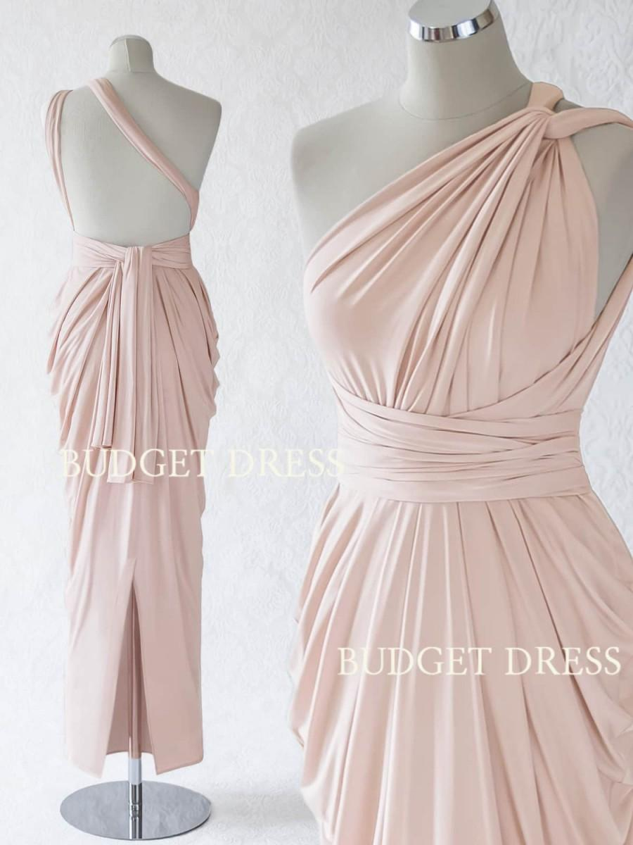 2017 New Style Nude Blush Multiform Bridesmaids Dress Infinity