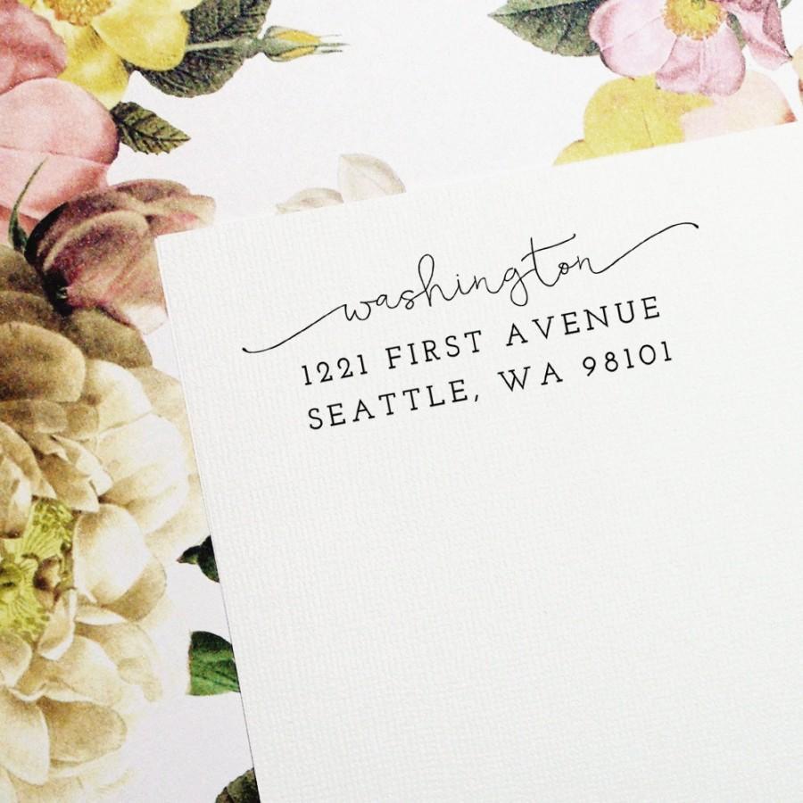 Mariage - Self Inking Return Address Stamp, Custom Stamp, Self Inking Address, Personalized Stamp, Wedding Stamp, Housewarming Gift - Style #67