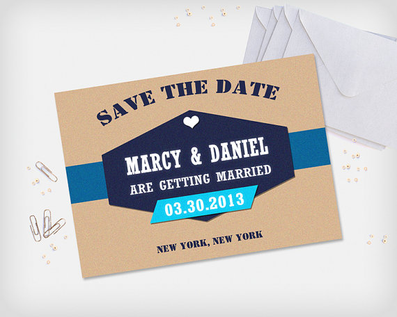 printable save the date card wedding date announcement card kraft