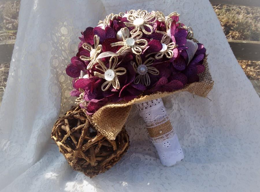 زفاف - Purple Country Chic Bouquet
