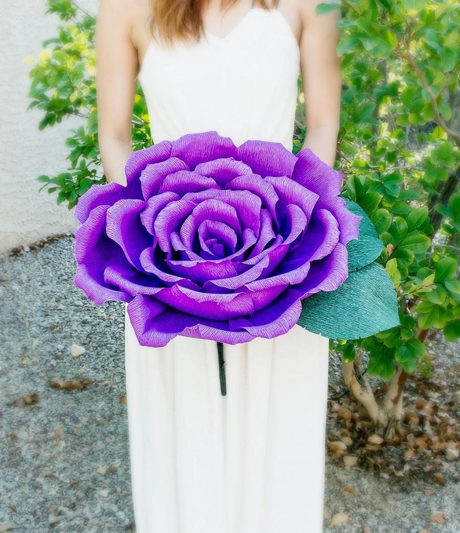 Handmade giant crepe paper flower with or without stem wedding handmade giant crepe paper flower with or without stem wedding bouquet bridesmaid bouquet decoration summer spring paper rose mightylinksfo