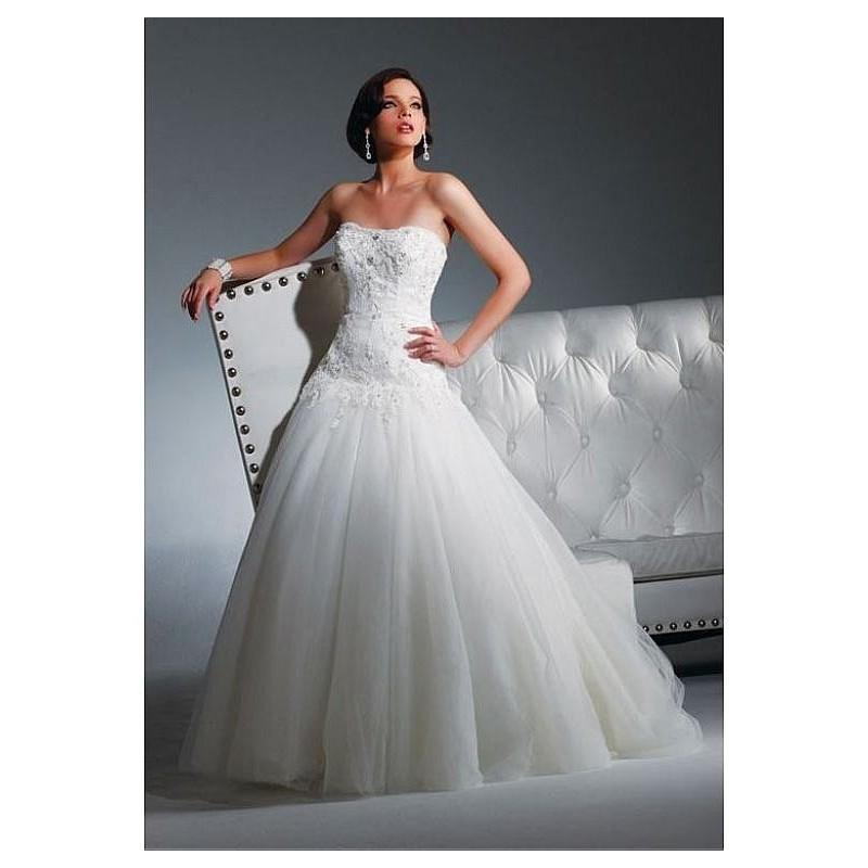 Wedding - Stunning Tulle Ball Gown Strapless Scoop Neckline 2 In 1 Wedding Dresses With Lace Appliques,Beadings and Manmade Diamonds - overpinks.com