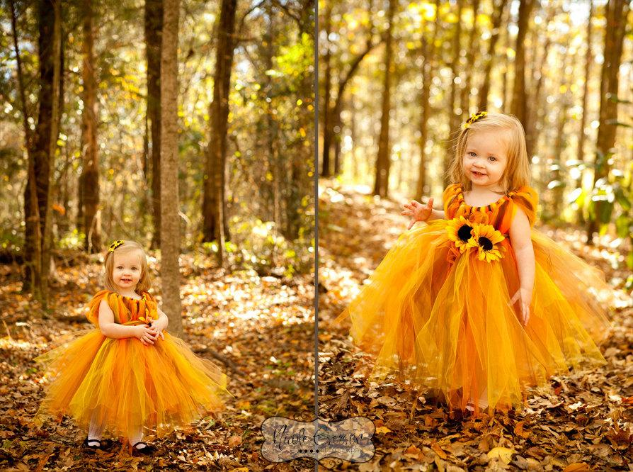 a674ff382d45a Flower Girl Dress - Wedding Dress - Fall Tutu Dress - Flower Girl ...