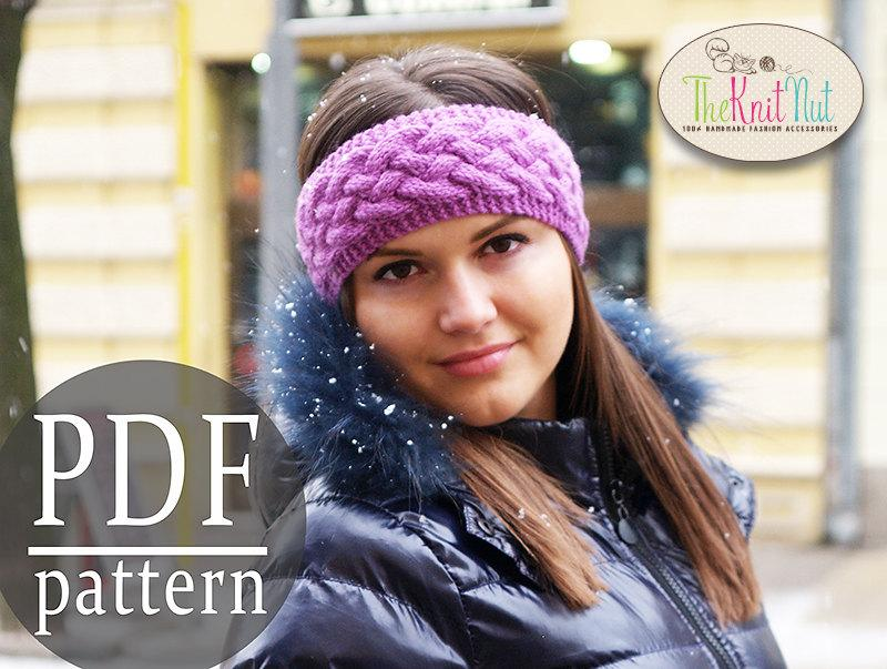 Instant Download Knitting Pattern, Chunky Braid Cable Pattern, Knit ...