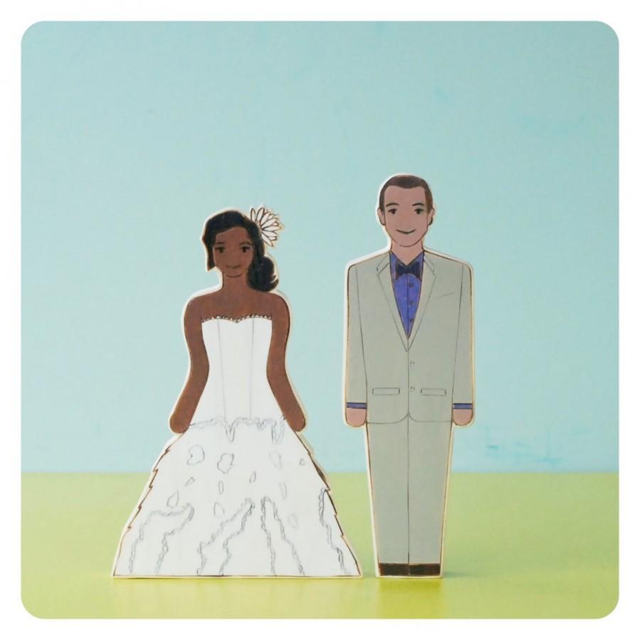 Свадьба - Custom Wedding Cake Topper Couple