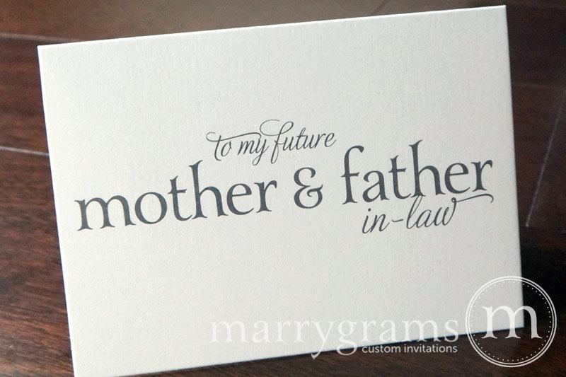 Wedding Card To Your Future Mother And Father In Law