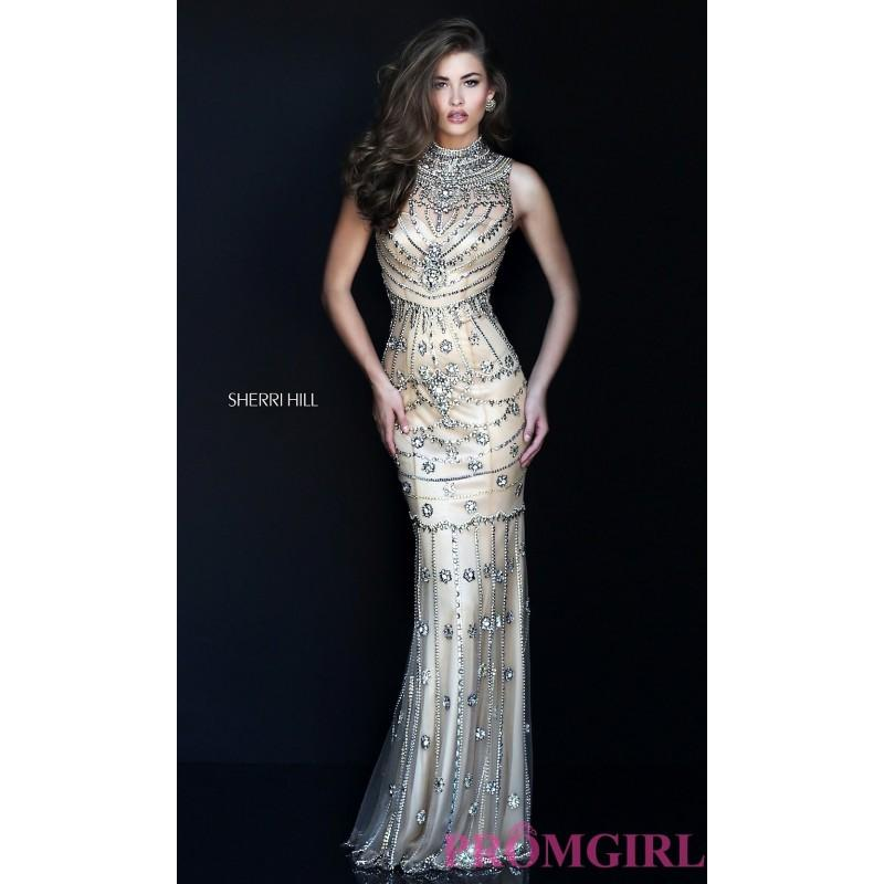 Wedding - Gorgeous Jeweled Nude Sherri Hill Prom Dress SH-50239 - Discount Evening Dresses