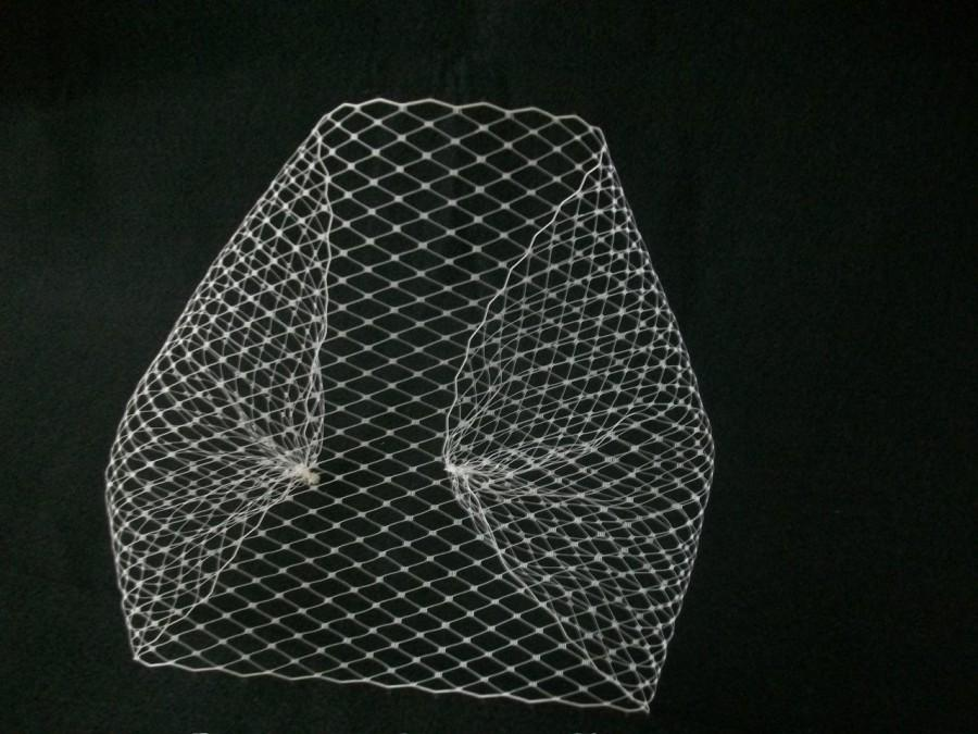 Mariage - Bandeau Birdcage Veil - Combless -French Netting
