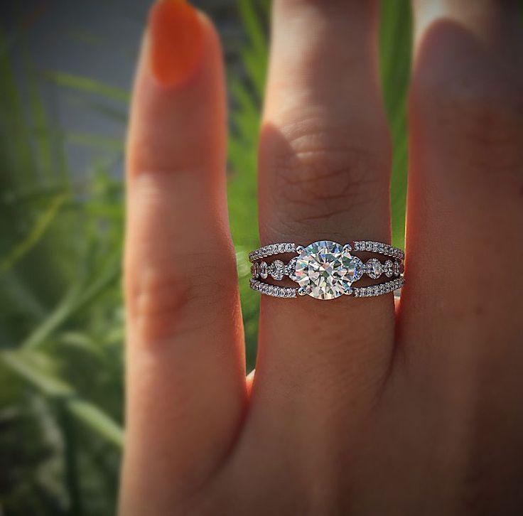 Hochzeit - Simon G MR2248 0.91ctw Diamond Engagement Ring Setting