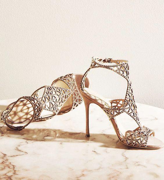 Wedding - Unique Gold Wedding Shoes
