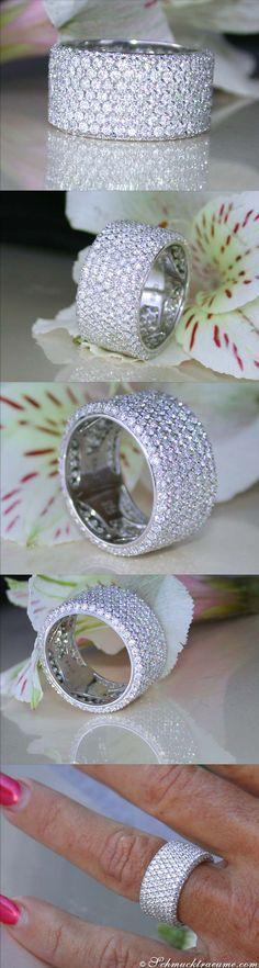 Wedding - Breiter Brillanten Memory Ring
