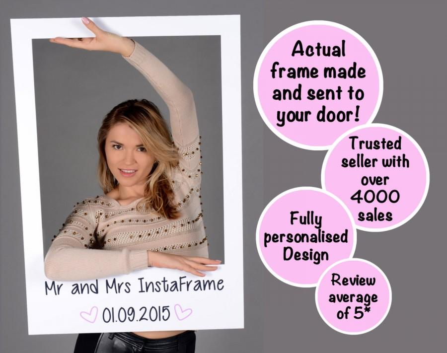 Свадьба - Large/medium personalised photo booth prop frames! Perfect for Weddings, Birthdays, Anniversaries, Hen parties and any other event!