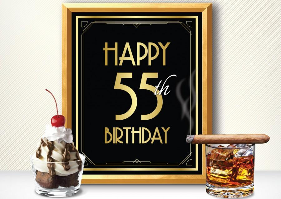 Printable HAPPY 55th BIRTHDAY