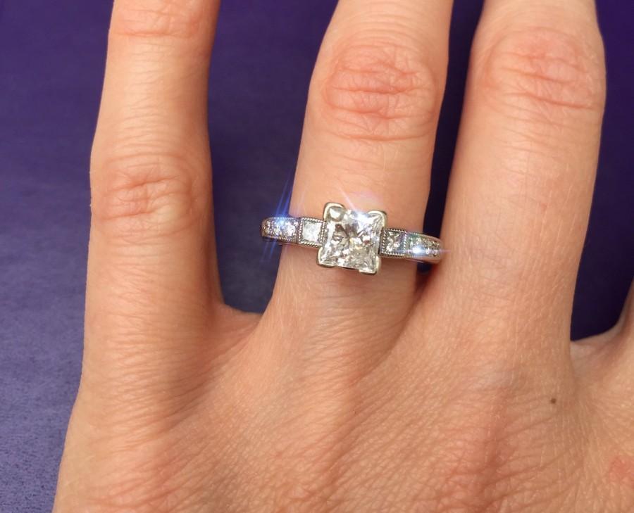 Hochzeit - Engagement ring separately 800.00 Approximately 1.25 carat Engagement Ring and Diamond wrap set. Offering flexible layaway.
