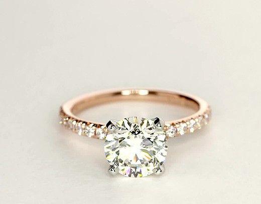 2 01 Carat Diamond French Pavé Diamond Engagement Ring