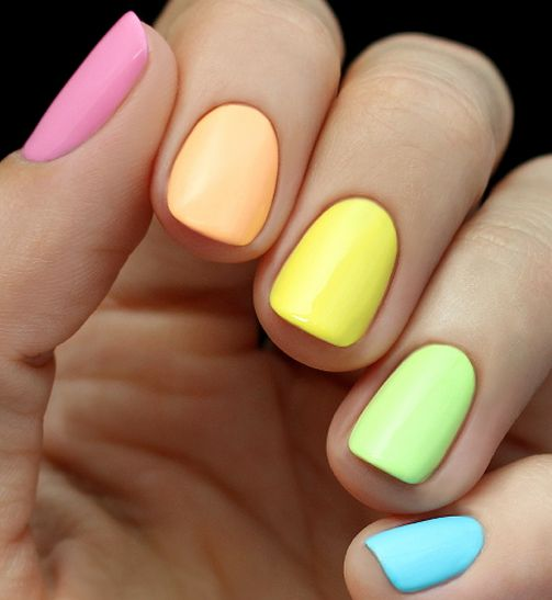 Wedding - Rainbow Nail Tutorial