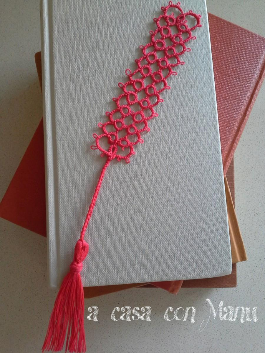 Mariage - Un distinto segnalibro - Bookmark tatting - Tatting - Bookmark - Regalo - Rosso - Corallo - gift - Handmade - Made in Italy