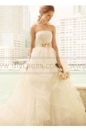 Свадьба - White By Vera Wang Ball Gown With Corded Lace Bodice And Tulle Skirt Style VW351065